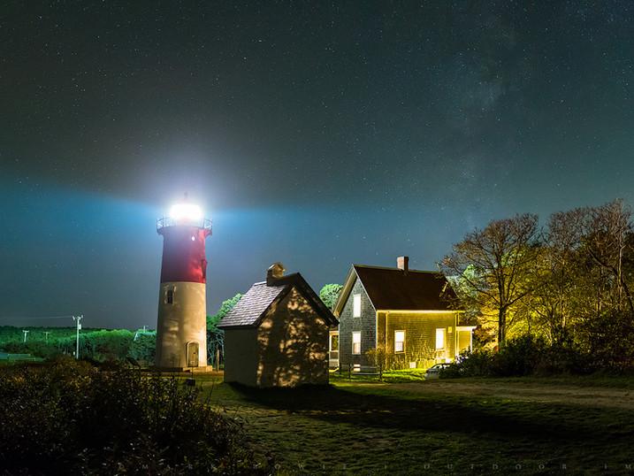 Nauset Light Milky Way, Cape Cod National Seashore, Massachusetts