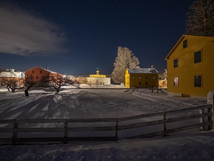 Shaker Winter Night, Hancock Shaker Village, The Berkshires, Massachusetts