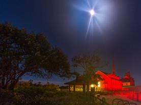Heavenly Moonbeams, Coast Guard Station, Cape Cod National Seashore, Massachusetts