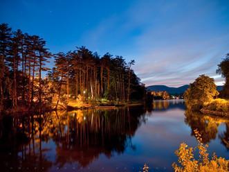 Early Night Reflections, Pontoosuc Lake, The Berkshires, Massachusetts
