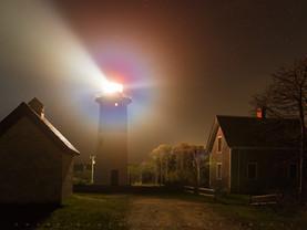 Illuminating the Fog, Nauset Light, Cape Cod National Seashore, Massachusetts