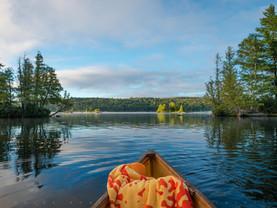 Island Canoeing, Blue Mt Lake, Adirondacks, New York