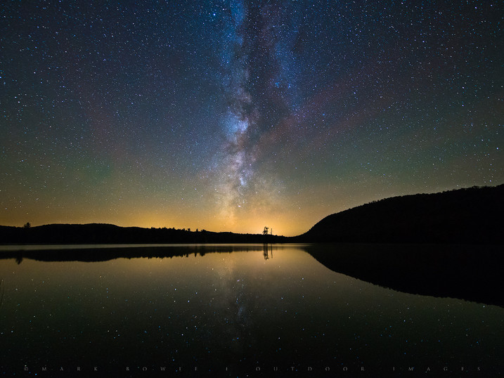 Iconic Milky Way Reflected in Moss Lake, Adirondacks, New York