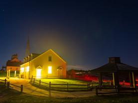 Night Illumination, Coast Guard Station, Eastham, Cape Cod National Seashore, Massachusetts