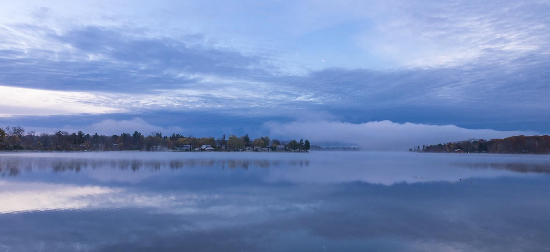 Sunrise Clouds Reflected in Onota Lake, Pittsfield, Massachusetts