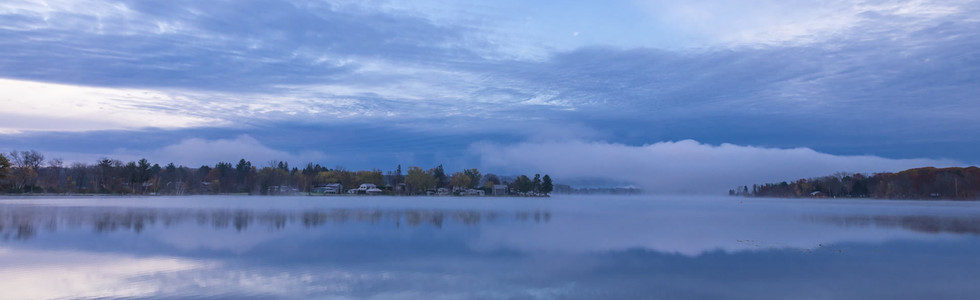 Sunrise Clouds Reflected in Onota Lake, Pittsfield, Massachusetts