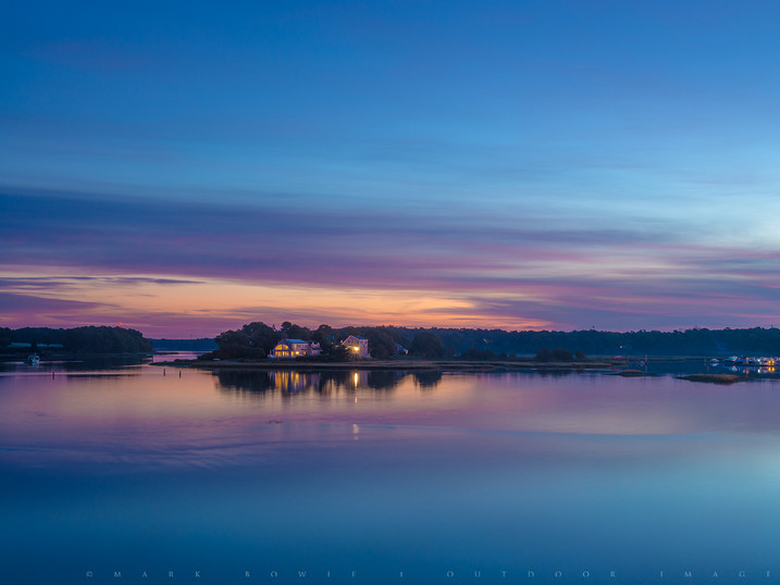Pre-Dawn Tranquility, Bass River, West Yarmouth, Cape Cod, Massachusetts