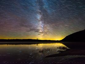 Milky Way & Star Trails, Moss Lake, Adirondacks, New York