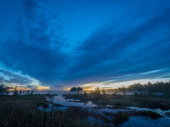 Pre-dawn Clouds Over Brown's Tract Inlet, Adirondacks, New York