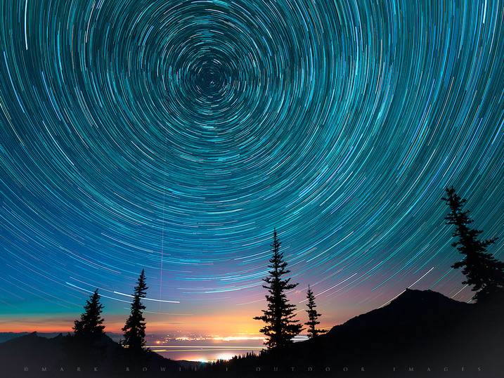 Star Circles Over Hurricane Ridge, Olympic National Park, Washington
