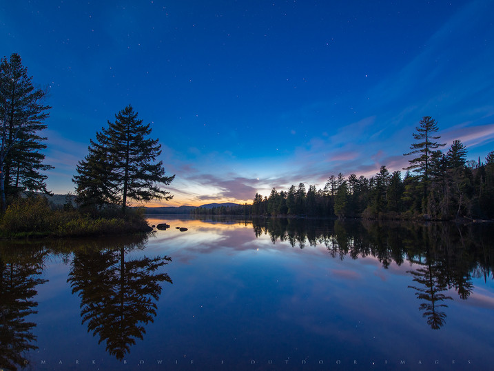 Twilight Stars, Lake Durant, Adirondacks, New York
