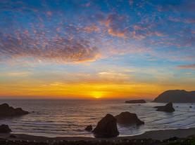 Sunset Panorama, Meyers Beach, Oregon