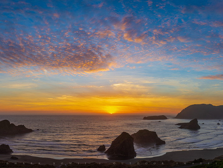 Sunset Panorama, Meyers Beach, Oregon