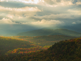 Storm Clouds Enshrouding Peaks, from the Belfry Mt Firetower, Adirondacks, New York