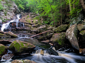 Summer Flow, Wahconah Falls, The Berkshires, Massachusetts
