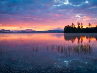 Sublime Pre-Dawn Light Reflected in Otter Bay, Raquette Lake, Adirondacks, New York