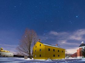 Orion Over Sisters' Dairy & Weave Shop, Hancock Shaker Village, The Berkshires, Massachusetts