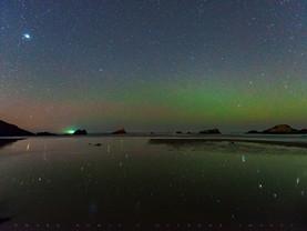 Starlight Reflections, Seal Rock State Park Beach, Oregon
