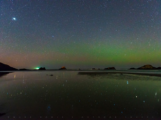 Starlight Reflections, Seal Rock State Park Beach, Oregon