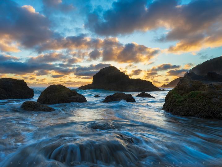 Onrushing Light, Indian Beach, Ecola State Park, Oregon