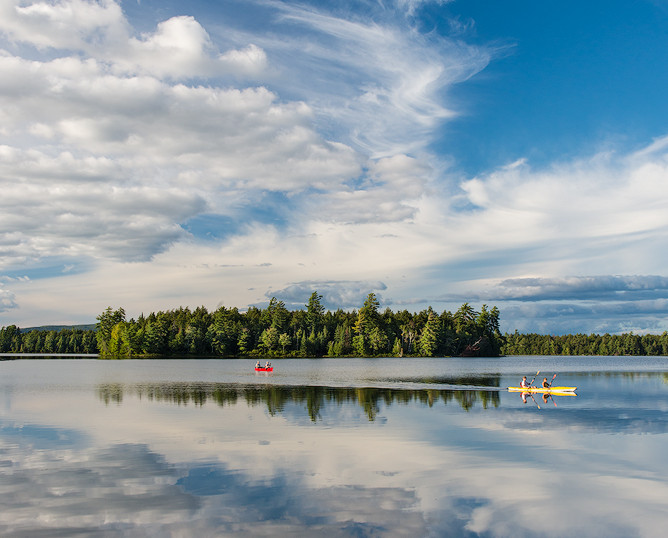Paddling Through Clouds, Follensby Clear Pond, Adirondacks, New York