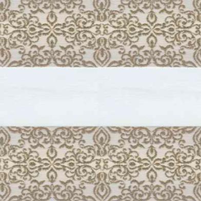 Рулонные шторы Зебра Арабеска бежевый, цена за изделие шт.