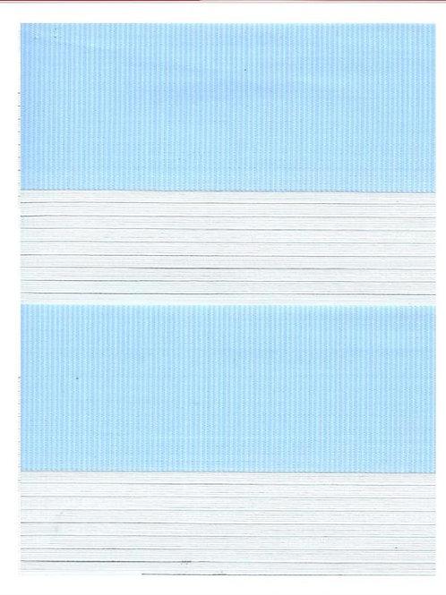 Рулонные шторы Зебра Стандарт голубой, цена за изделие шт.