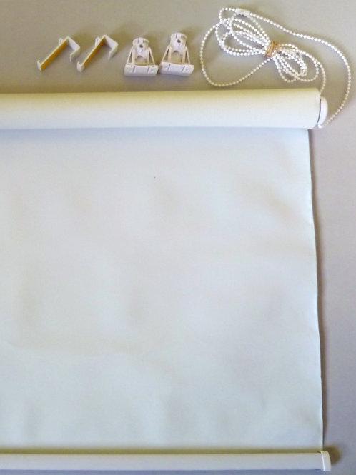 Рулонные шторы Мини Uni блэк-аут 02 белый
