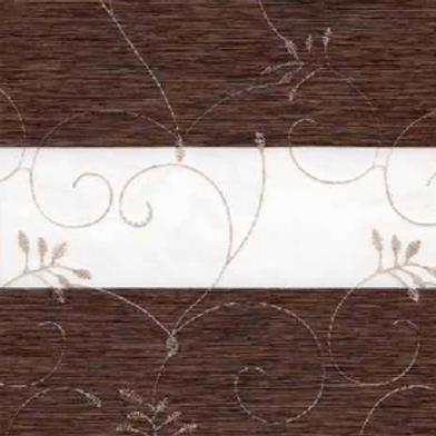 Рулонные шторы Зебра Валенсия темно-коричневый , цена за изделие шт.