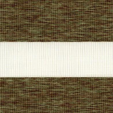 Рулонные шторы Зебра Этник зеленый , цена за изделие шт.