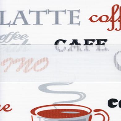 Рулонные шторы Зебра Кофе коричневый , цена за изделие шт.