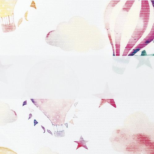 Рулонные шторы Зебра Облака розовый , цена за изделие шт.