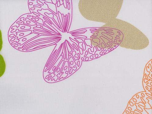 Рулонные шторы Бабочки розовый, цена за изделие, шт.