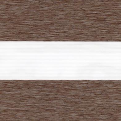 Рулонные шторы Зебра Лофт Во коричневый , цена за изделие шт.