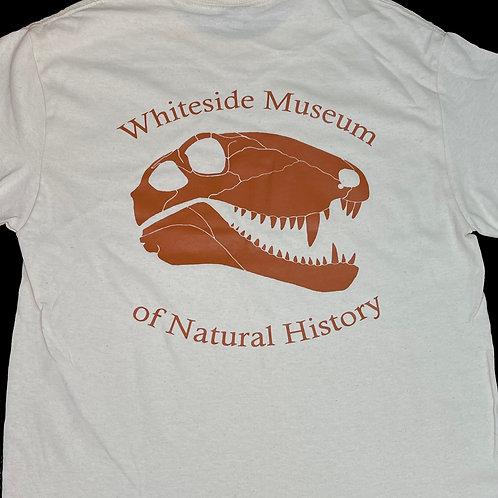 ADULT- Natural With Orange Logo T-shirt