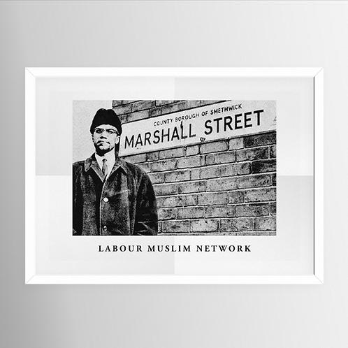 'Malcolm X' A3 Print