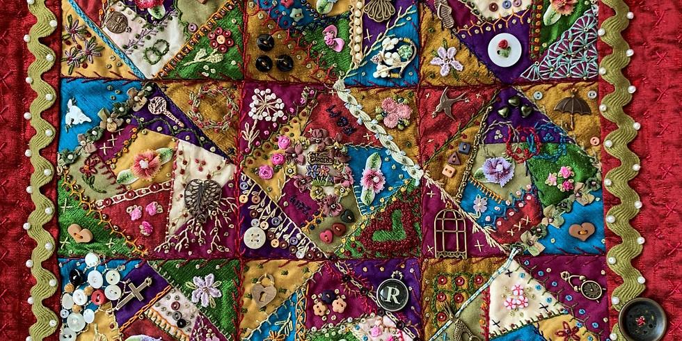 "June Workshop: ""Crazy Quilt Basics"""