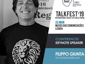 Talkfest'19: Rototom Sunsplash director (World's largest reggae festival) confirmed