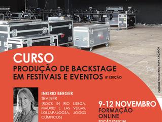 """Curso """"Produção de Backstage em Eventos e Festivais"""" com Ingrid Berger (Rock in Rio, Jogos Olím"""