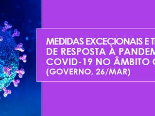 Medidas excecionais e temporárias de resposta à pandemia COVID-19 no âmbito cultural (Governo, 26/ma