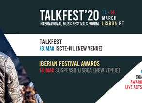 TALKFEST AND IBERIAN FESTIVAL AWARDS 2020   Venues change