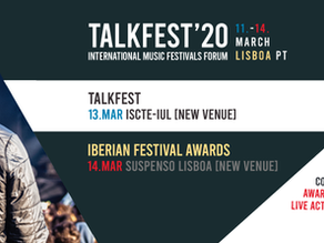 TALKFEST AND IBERIAN FESTIVAL AWARDS 2020 | Venues change
