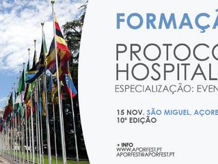 """Workshop """"Protocolo e Hospitalidade [Especialização: Eventos culturais]"""" - Açores - 10ª edição, 15/n"""