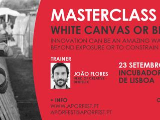 Masterclass: White Canvas or Black Mirror? [inovação e criação de experiências pelas marcas nos even