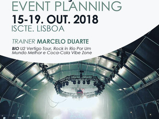 "Curso ""Event Planning"" com Marcelo Duarte (U2, Rock in Rio, Coca-Cola) > 15-19 outubro 2018,"