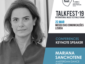 Director of the Amsterdam Dance Event at Talkfest'19. Iberian Festival Awards applications end o