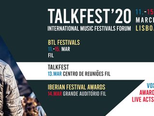 TALKFEST e IBERIAN FESTIVAL AWARDS 2020 | Datas, Primeiros Oradores e Locais
