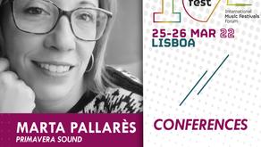 TALKFEST   New speakers (Primavera Sound, Femnoise, Bons Sons) and concerts (Constança Quinteiro)