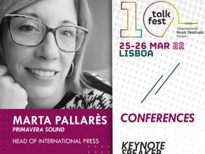 TALKFEST | New speakers (Primavera Sound, Femnoise, Bons Sons) and concerts (Constança Quinteiro)