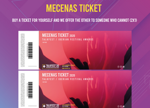 Talkfest´20: Donation Ticket - buy for yourself and the Mecenas offer the other to those who cannot